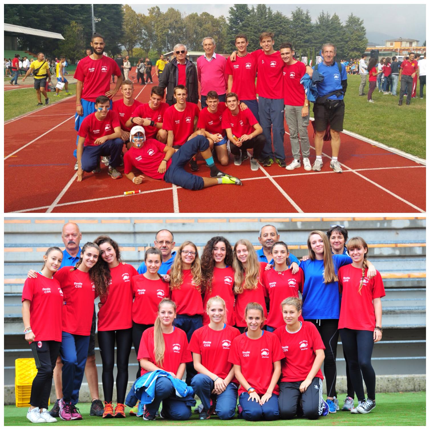 Finale NAZIONALE CDS Allievi (finale ORO Bergamo), Allieve (Finale B Firenze)